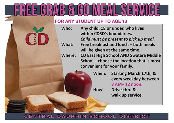 Free Grab & Go Meal Service - Extended Times