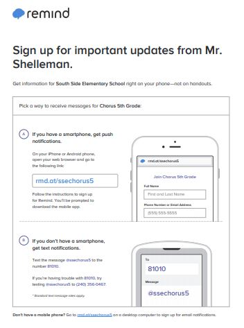 Sign Up for Remind